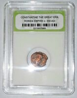 SLABBED ANCIENT IMPERIAL ROMAN CONSTANTINE THE GREAT COIN   NICE COIN C 330 AD9