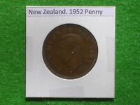 NEW ZEALAND   1952 ONE PENNY   PREDECIMAL COIN.