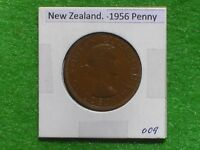 NEW ZEALAND   1956 ONE PENNY   PREDECIMAL COIN.