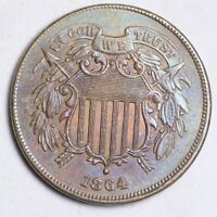 1864 TWO CENT PIECE CHOICE UNC SHIPS FREE E256 KFT