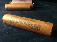 WELLS FARGO  OBW ROLL LINCOLN CENT WHEAT PENNY ROLLS  REAL OLD CENTS