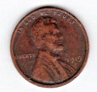 1919 D LINCOLN CENT IN GOOD  CONDITION  STK L19 D VG