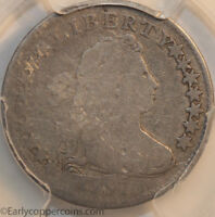 1797 JR1 R4 DRAPED BUST SMALL EAGLE DIME 16 STARS PCGS G6 LATE DIE STATE CRACK