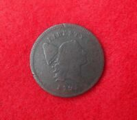 1795 LIBERTY CAP HALF CENT WITH LETTERED EDGE