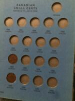 CANADIAN SMALL CENT COLLECTION 1920 1973