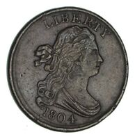 1804 DRAPED BUST HALF CENT - CIRCULATED 1189