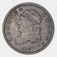 1837 CAPPED BUST HALF DIME - CIRCULATED 5785