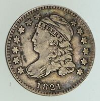 1821 CAPPED BUST DIME - SMALL DATE - CIRCULATED 5036