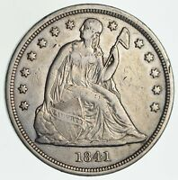 1841 SEATED LIBERTY DOLLAR - CIRCULATED 6020