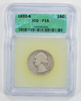 F15 1932-S WASHINGTON QUARTER - ICG GRADED 1724