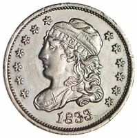1833 CAPPED BUST HALF DIME - CIRCULATED 1704
