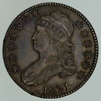 1821 CAPPED BUST HALF DOLLAR - NEAR UNCIRCULATED 4645