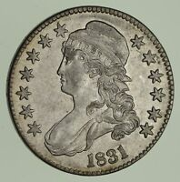 1831 CAPPED BUST HALF DOLLAR - CIRCULATED 1834
