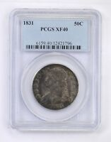 EXTRA FINE 40 1831 CAPPED BUST HALF DOLLAR - PCGS GRADED 4822