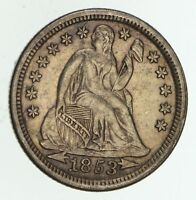 1853 SEATED LIBERTY DIME - TYPE 3 - CIRCULATED 4748