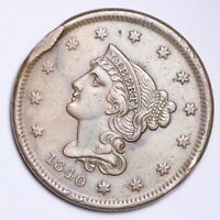 1840 BRAIDED HAIR LARGE CENT UNC DETAIL SHIPS FREE E114 AHT