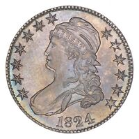 1824 CAPPED BUST HALF DOLLAR - DOUBLE PROFILE 8272