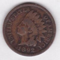 1892 INDIAN HEAD CENT IN GOOD   CONDITION : STK I 601