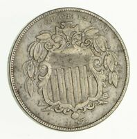 1867 SHIELD NICKEL - WITHOUT RAYS - CIRCULATED 2970