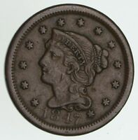 1847 BRAIDED HAIR LARGE CENT - CIRCULATED 4041