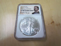 2016 AMERICAN SILVER EAGLE NGC MS70 WYATT EARP FIRST DAY ISSUE 30TH ANNIVERSARY