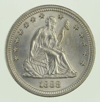 1888-S SEATED LIBERTY QUARTER - CIRCULATED 1963