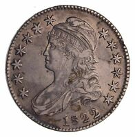 1822 CAPPED BUST HALF DOLLAR - CIRCULATED 1518