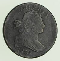 1802 DRAPED BUST LARGE CENT - CIRCULATED 9715