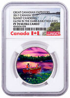 2017 CANADA OUTDOORS CANOEING GLOW IN THE DARK 3/4OZ SILVER