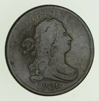 1806 DRAPED BUST HALF CENT - CIRCULATED 4730