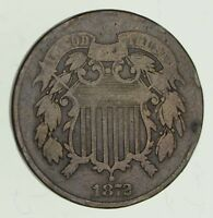 1872 TWO-CENT PIECE - CIRCULATED 2824