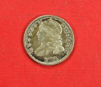 1833 P CAPPED BUST DIME HIGH GRADE AU 90 SILVER COIN LIGHT TONING