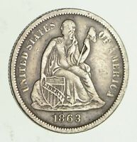 1863-S SEATED LIBERTY SILVER DIME - CIRCULATED 4212