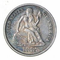 1887 SEATED LIBERTY SILVER DIME - NEAR UNCIRCULATED 6031