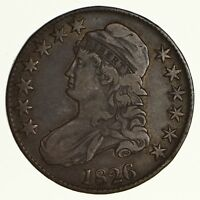 1826 CAPPED BUST HALF DOLLAR - CIRCULATED 6187