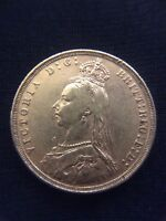 1889 VICTORIA JUBILEE HEAD GOLD SOVEREIGN COIN