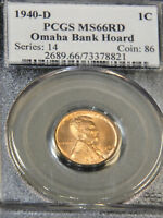 1940-D LINCOLN CENT PCGS MINT STATE 66RD BRIGHT RED GREAT LUSTER, PQ 93M