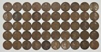1913 P LINCOLN WHEAT CENT PENNY 1C AVERAGE CIRCULATED 100 COINS PHILADELPHIA