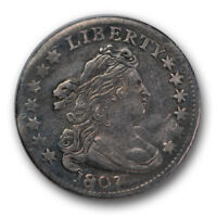 1807 10C DRAPED BUST DIME EXTRA FINE EXTRA FINE  US TYPE COIN R166