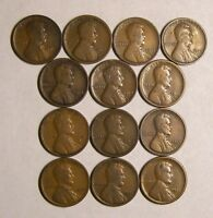 SET OF LINCOLN WHEAT CENTS/PENNIES: 1916 PD 1917 PD 1918 PDS 1919 PDS 1920 PDS