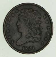 1834 CLASSIC HEAD HALF CENT - CIRCULATED 4711