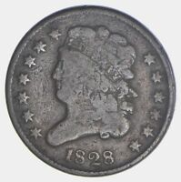 1828 CLASSIC HEAD HALF CENT - CIRCULATED 5635