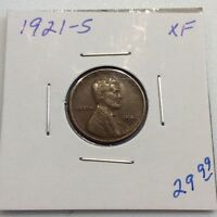 1921-S LINCOLN CENT IN EXTRA FINE  CONDITION