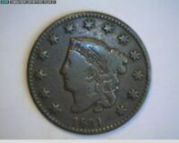 1831 CORONET HEAD LARGE CENT  VF -      TAKE A LOOK