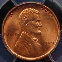 1909 LINCOLN WHEAT CENT PCGS MINT STATE 64 RED BLAZING WELL STRUCK 110 YEAR OLD LINCOLN