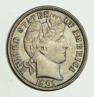 1901 BARBER HEAD SILVER DIME - UNCIRCULATED 9462