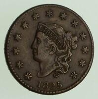 1825 MATRON HEAD LARGE CENT - CIRCULATED 7467