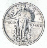 1921 STANDING LIBERTY SILVER QUARTER - CIRCULATED 9124