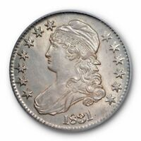 1831 50C CAPPED BUST HALF DOLLAR ICG AU 58 ABOUT UNCIRCULATED O-108