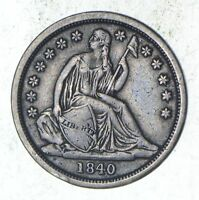 1840 SEATED LIBERTY SILVER DIME - SHARP 9111
